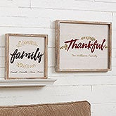 Personalized Barnwood Framed Wall Art - Cozy Home - 19244