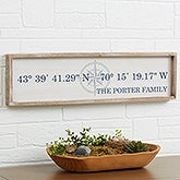 Personalized Barnwood Wall Art - Latitude & Longitude - 19253