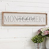 Personalized Family Name Wall Art - Barnwood Frame - 19255