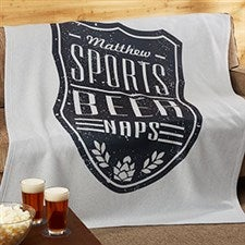 Beer Label Personalized Sweatshirt Blankets - 19260
