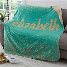 Personalized Sherpa Blankets - Sparkling Name - 19263
