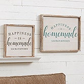 Custom Barnwood Wall Art - Happiness is Homemade - 19279