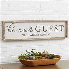 Personalized Barnwood Wall Art - Be Our Guest - 19284