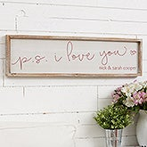 P.S. I Love You Personalized Barnwood Frame Wall Art - 19292