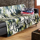 Personalized Camo Fleece Blankets - 19306