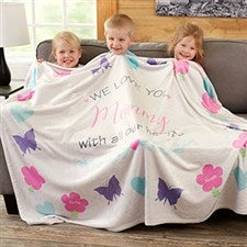 Personalized Blankets For Mom - All Our Hearts - 19314