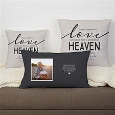 Personalized Memorial Throw Pillow - Heaven In Our Home - 19317