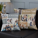 Photo Collage Throw Pillow - Family Love - 19319
