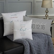 Personalized Throw Pillows - Our Story - 19322