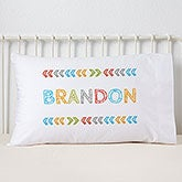 Personalized Kids' Pillowcases - Stencil Boy Name - 19327