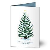 Personalized Christmas Cards - Evergreen Christmas - 19346