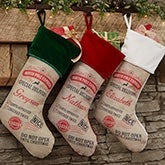 Personalized Christmas Stockings - Special Delivery - 19347