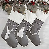 Winter Woodland Personalized Christmas Stockings - 19349