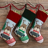 Personalized Christmas Stockings - Reindeer Family - 19351