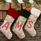 Personalized Christmas Stockings For Kids - Any Name - 19353