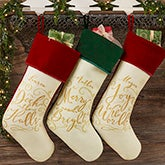 Personalized Christmas Stockings - Christmas Carols - 19354