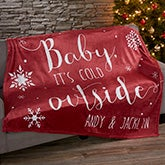 Personalized Holiday Fleece Blankets - Christmas Quotes - 19359