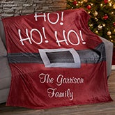 Personalized Fleece Blanket - Santa Belt - 19360
