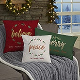 Personalized Holiday Pillows - Cozy Christmas - 19380