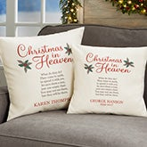 Personalized Memorial Pillows - Christmas In Heaven - 19384