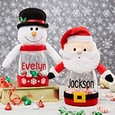 Personalized Christmas Candy Jars - 19395
