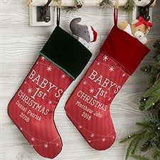 Personalized Baby's First Christmas Stockings - 19396
