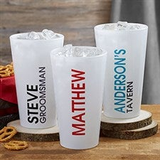 Personalized Pint Glasses - Bold Name - 19407