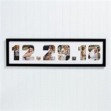 Wedding Date Photo Collage Picture Frame - 19417