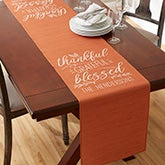 Personalized Table Runner - Thankful, Grateful, Blessed - 19427