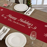 Personalized Table Runner - Holiday Snowflakes - 19429