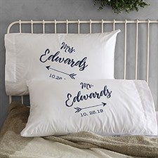 Personalized Wedding Pillowcases - Sparkling Love - 19431 c85fc4a5d