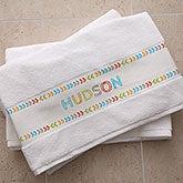 Personalized Bath Towels - Stencil Name - 19432