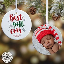 Best Gift Ever Personalized Baby Ornament - 19437