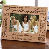 Engraved Wooden Friendship Picture Frame - 1944