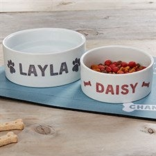 Personalized Dog Bowls - Farmhouse Design - 19441