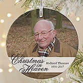 Memorial Photo Ornament - Christmas In Heaven - 19445