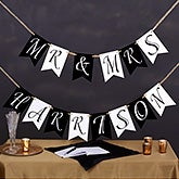 Personalized Wedding Bunting Banner - 19448