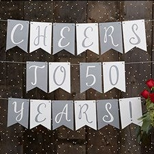 Personalized Anniversary Bunting Banner - 19449