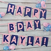 Personalized Birthday Party Bunting Banner - 19450