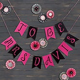 Personalized Bridal Shower Bunting Banner - 19453