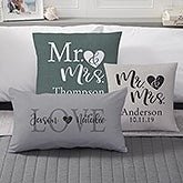 Personalized Throw Pillows - Elegant Couple - 19458