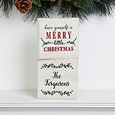 Merry Christmas Personalized Shelf Decor - 19469