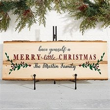 Personalized Basswood Plank Signs - Merry Christmas - 19470