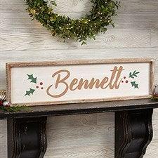Personalized Barnwood Wall Art - Cozy Christmas - 19473