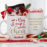 Christmas Cheer 30oz Personalized Christmas Mug - 19488