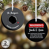 Personalized Santa Cam Ornaments - 19505