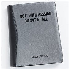 Personalized Silver & Black Portfolio - Office Expressions - 19513