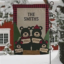 Personalized Garden Flag - Winter Bear Family - 19519