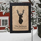 Winter Themed Personalized Garden Flags - 19521