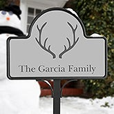 Winter Themed Personalized Garden Stake - 19525